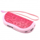 Wallet Style 4400mAh External Battery Charger Power Source Bank for IPHONE / Samsung + More - Pink