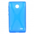 X Pattern Protective TPU Back Case for Nokia X - Blue
