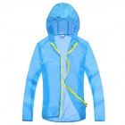 WindTour WT13514 Women's Outdoor Sports Sunproof Chinlon Jacket - Sky Blue (M)
