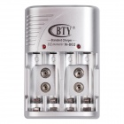 BTY 802 Super Quick Express Plugs US 4-Slot AAA chargeur de batterie avec 4-AAA 800mAh Batteries