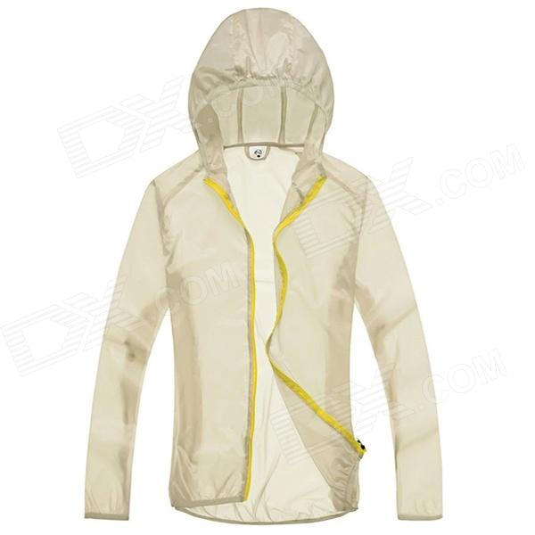 WindTour WT13514 Women's Outdoor Sports Sunproof Chinlon Jacket - Off-white (S)