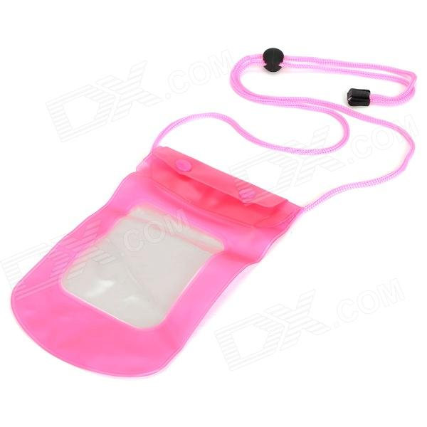 Outdoor Sports Diving Swimming Waterproof PVC Bag for Mobile Phone Camera - Pink