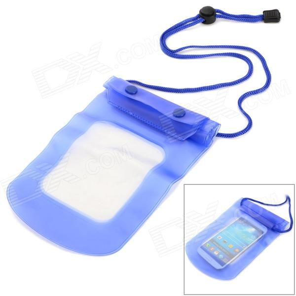 Outdoor Sports Diving Swimming Waterproof PVC Bag for Mobile Phone / Camera - Blue