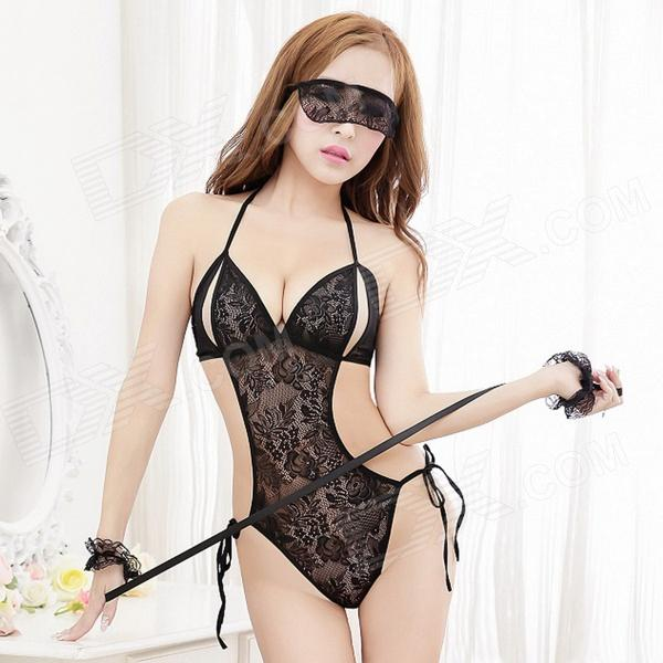 5503 Sexy Lace One-piece Underwear W/ Eyeshade Set For