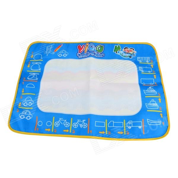 YIQU YQ3903 Reusable Water Painting Cloth + Pen Toy - White Green + Multicolored (Russian) цена