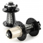 XC20 Mountain Bicycle Front / Rear Sealed Bearing Hubs w/ Quick Release Skewers Set - Black
