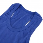 Casual Cotton I-Shaped Vest for Women - Blue (M)