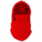 GUZON 123 Sports de plein air chaud coupe-vent polaire toisons masque / chapeau - rouge (taille libre)