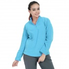 Wind Tour Outdoor Warm Polar Fleeces Hedging Jacket for Women - Sky Blue (XL)