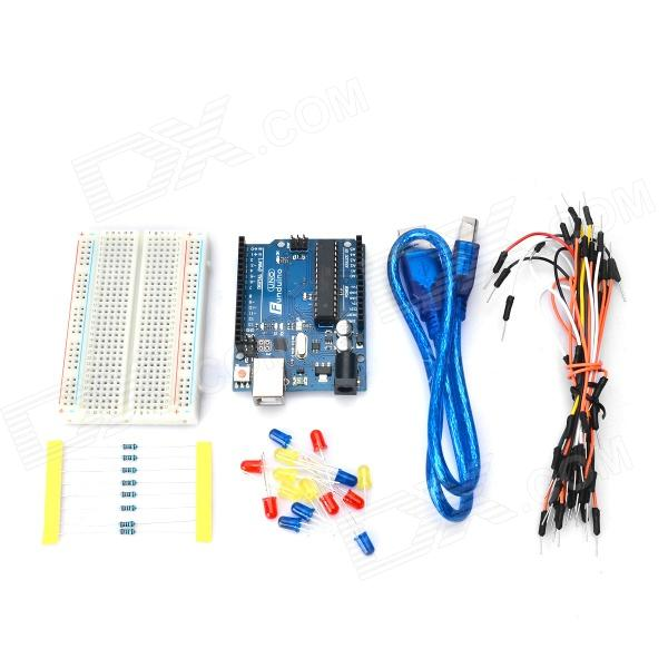 UNO R3 Development Board Kit w/ Breadboard / Resistors / LED (Works with Arduino Official Boards) modules genuine for intel galileo gen 2 development board quark soc x1000 400mhz 256m compatible with arduino uno r3 shield