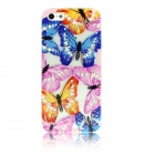 ENKAY Butterfly Pattern Hollow-out Protective Plastic Back Case for IPHONE 4 / 4S - Multicolored