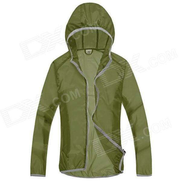 WindTour WT13514 Men's Outdoor Sports Sunproof Chinlon Jacket - Army Green (M)
