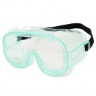 005 Stylish Outdoor Dustproof Windproof Eye Shield Goggles - White + Translucent Green