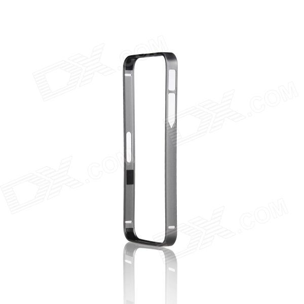 Fashionable Protective Aluminum Alloy Bumper Frame for IPHONE 5 / 5S - Grey