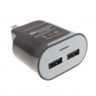 MXT AC Power Charger Adapter w/ Dual USB for IPHONE / IPAD / IPOD - Black (US Plug / AC 100~240V)