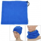 För män utomhus Polar Fleece Neckerchief Head Guard Veil Shield - Sapphire Blå