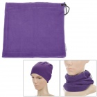 Women's Outdoor Polar Fleece Neckerchief Head Guard Veil Shield - Purple