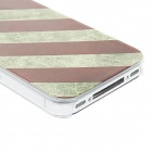 Kinston Vintage American Flag Pattern Matte Designed PC Hard Case for IPHONE 4 / 4S - Blue + Red