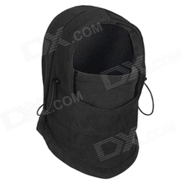 WindTour WT111220 Men's Fleece Thicken CS Head Guard Shield Cap - Black extreme weather