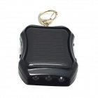 JY-01 Mini Solar Powered Charger w/ 3-LED Lamp - Black