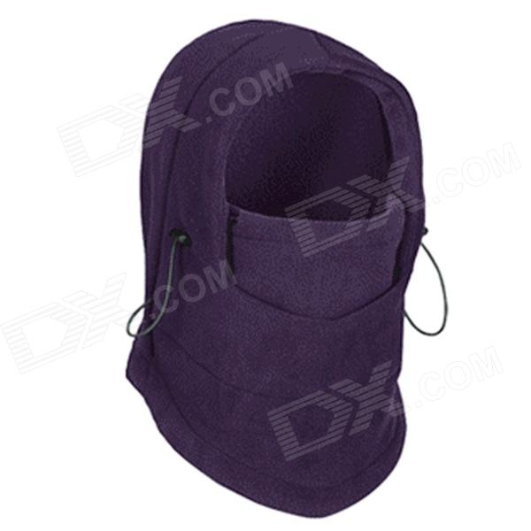 GUZON 123 Women's Outdoor Fleece Cycling Neckerchief Head Guard Shield Cap - Purple