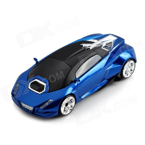 KDH CN-975 Car Model Style 360 Degree Speed Radar Detector - Blue + Black