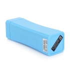 3500mAh Portable Universal Power Bank + 1W blanc USB lumineux LED lampe tête - bleu