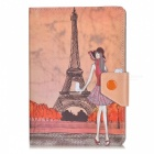 Kinston Modern Lady Pattern Protective PU Leather Case Cover Stand for RETINA IPAD MINI / IPAD MINI