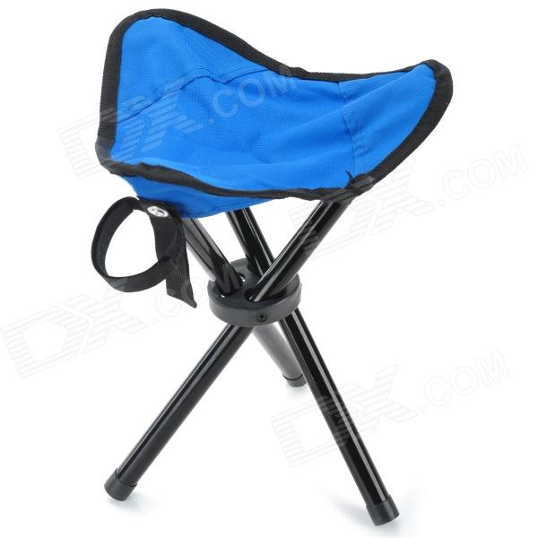 K88131 Outdoor Fishing Triangle Folding Chair - Blue + Black