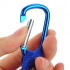 11001 Aluminum Alloy + Plastic Water Bottle Holder Carabiner - Blue