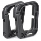 Convenient Tactic Hiking Plastic Nylon Carabiner - Black (2 PCS)
