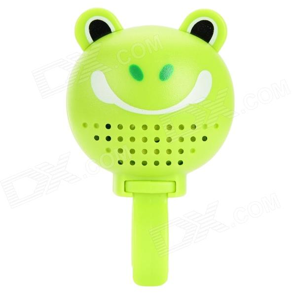 DX-888B Cute Pet Style Plastic Bike Bell w/ Rear Mirror - Green (3 x LR44)