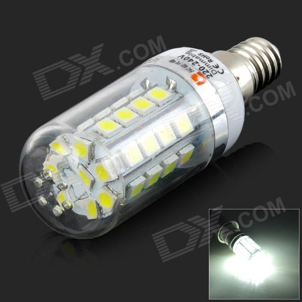 Lexing LX-YMD-087 E14 1.5~4.5W 220lm 7000K 36-5050 SMD LED White Light Dimmable LED Lamp (220~240V) lexing lx qp 20 e14 6w 470lm 3500k 15 5730 smd led warm white light dimmable lamp ac 220 240v