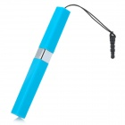 Lipstick Style ABS + Silicone Capacitive Touch Stylus Pen w/ Dust Plug for Smartphones - Blue