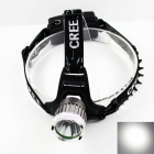 KINFIRE KF-11 Cree XM-L U2 720lm 3-Mode White Bike Light / Headlight - Silver + Black (2 x 18650)