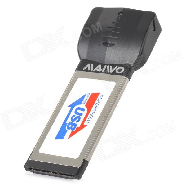MAIWO KC002 DIY porta dupla placa de extensão USB 3.0 para Notebook Laptop - Black + Silver