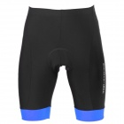 TOP CYCLING SAK206 Polyester Spandex Unisex Cycling Short Pants w/ Silicone Pad - Black + Blue (M)
