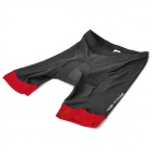 TOP CYCLING SAK206 Unisex Cycling Short Pants w/ Silicone Pad - Black + Red (L)