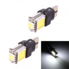 T10 3W 5050 + COB 210lm LED Car Steering / Signal / Clearance / Instrument Lamp - White