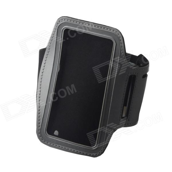 Convenient Outdoor Sports Armband w/ Transparent Window for IPHONE 4 / 4S - Grey + Black