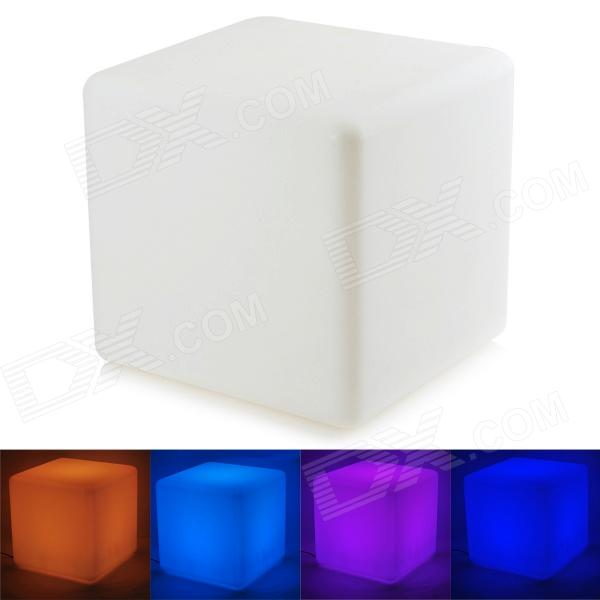 Water Resistant LED RGB Square Chair w/ Remote Controller - White lt 3500 6a led rgb music controller dc5 24v input max 6a 3channel output support audio line with ir remote control diy effect