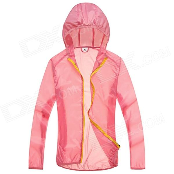 WindTour WT13514 Outdoor Sports Sunproof Polyester Jacket for Women - Pink (L) outdoor genuine lady pink ski suit camouflage waterproof windproof jacket cotton 1410 018 women wear