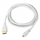 Micro HDMI Male to HDMI Male Cable - White (150cm)