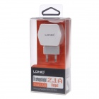 LDNIO DL-AC61 Universal Dual USB AC Power Charger Adapter - White (EU Plug / 100~240V)
