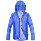 WindTour WT13514 Outdoor Sports Sunproof Polyester Jacket for Men - Sapphire Blue (XXL)