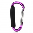 13.9cm Aluminum Alloy Outdoor Sports Carabiner w/ Sponge - Purple