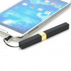 Mini Lipstick Shaped Universal Stylus w/ Dust Plug for Touch Screen Smartphones - Black