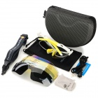 NUCKILY PA01 UV400 Protection Outdoor Cycling Polarized Sunglasses Goggles - White + Yellow