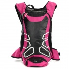 LOCAL LION 450 Cycling Nylon Backpack Bag - Deep Pink + Black (12L)