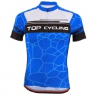TOP CYCLING SAE270 Outdoor Cycling Short Sleeves Jersey for Men - Blue (XXL)